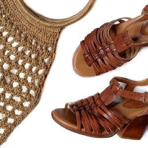 Korks by Kork Ease Cruz Leather Sandal Heels 7